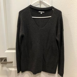 American Eagle Charcoal Knit Sweater
